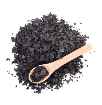 Escama de sal marina con Carbón Vegetal 300g