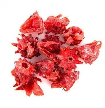 Flor de Hibisco deshidratada, bandeja 200 gramos