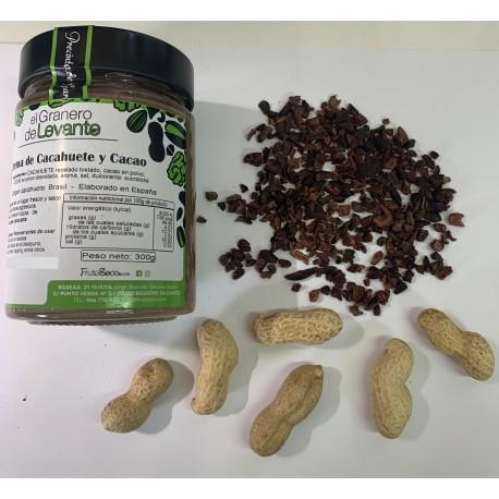 Crema de cacahuete y cacao, 300 g