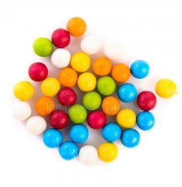 Bolas de Chicle de colores, bolsa 250 gramos.