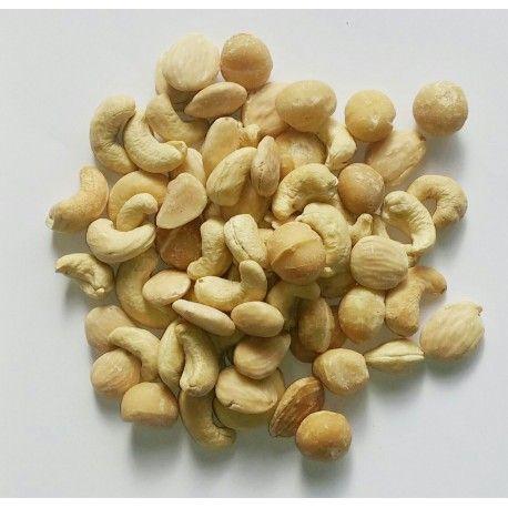 """Mezcla Selecta tostada Sin sal (Macadamia, Anacardo y Marcona),  bote 250 gramos """"envasado al vacío"""""""