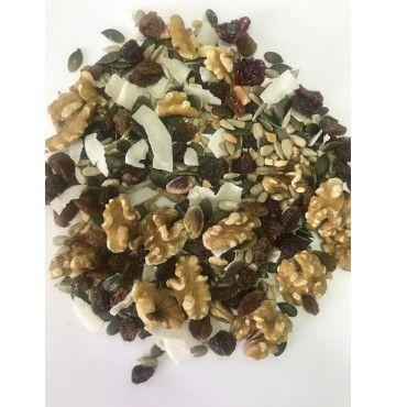 """Mezcla ideal (desayunos y ensaladas) SIN AZÚCAR 250 gramos """"envasado al vacío"""""""